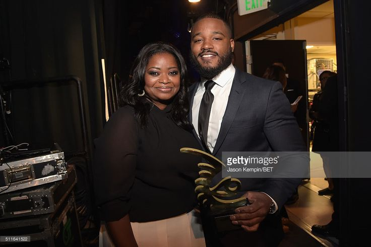 Actress Octavia Spencer and director Ryan Coogler pose backstage at the 2016 ABFF Awards: A Celebration Of Hollywood at The Beverly Hilton Hotel on February 21, 2016 in Beverly Hills, California.