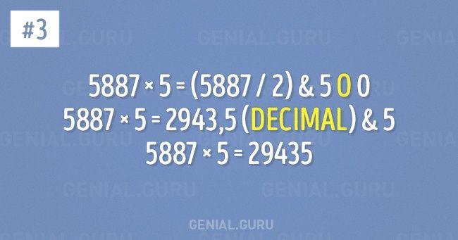 Sinoeres bueno enmatemáticas, noestuculpa. Simplemente notehan enseñado enlaescuela trucos que hacen cualquier cálculo sencillo.