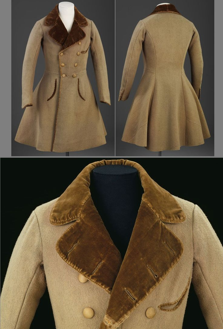 Wollen Beaver Cloth Frock Coat, ca. 1830s.  http://collections.vam.ac.uk/item/O138652/frock-coat-unknown/