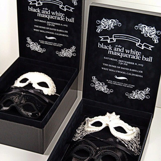 That time there was a very specific dress code. #tbt #masquerade #party #redblissdesign #custominvitations #luxury #blackandwhite #masks #velvet #invitations #eventprofs #parkandgrove #luxuryispersonal