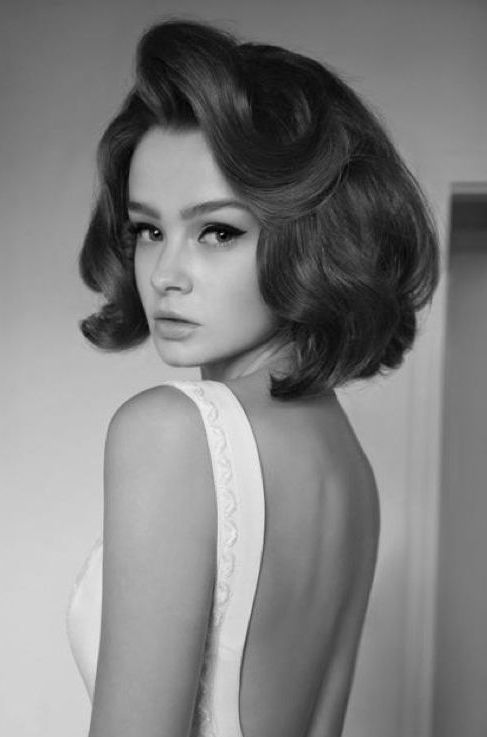 Vintage Beauty Styling - big hair, amazing skin, gorgeous brows.