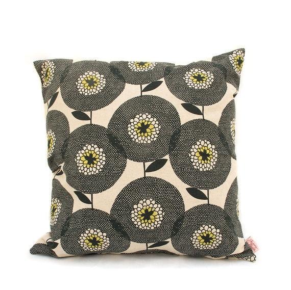 Flower Field cushion in penny black by Skinny laMinx