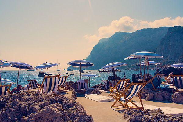La Fontelina Beach Club in Capri photographed by Gray Malin