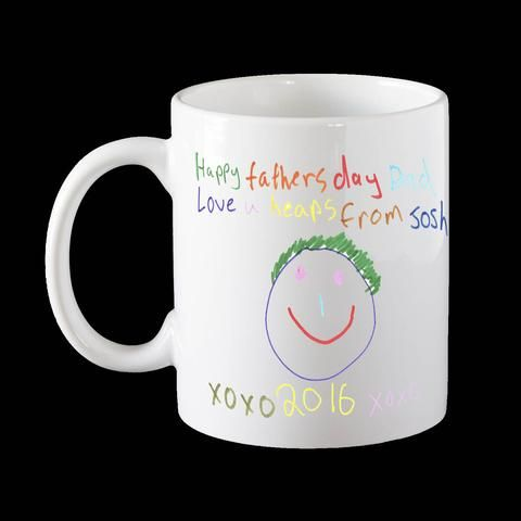Your Art on a Fathers Day Coffee Mug