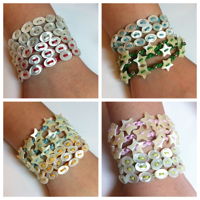Braccialetto con bottoni - bracelets from buttons!