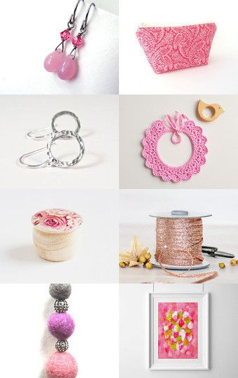 Think Pink by Anita T. on Etsy--Pinned with TreasuryPin.com