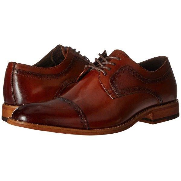 Stacy Adams Dickinson Cap Toe Oxford (Cognac) Men's Lace Up Cap Toe | shoes