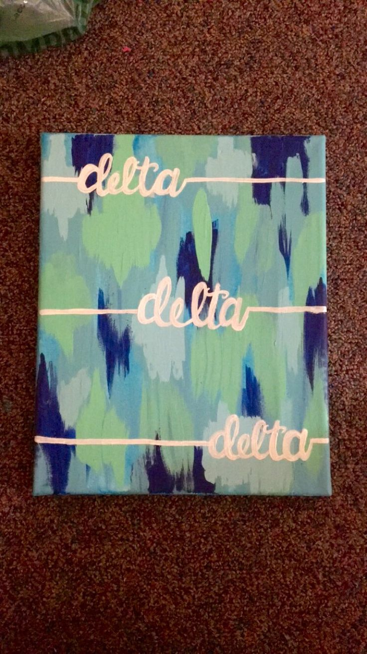 Tri delta sorority canvas