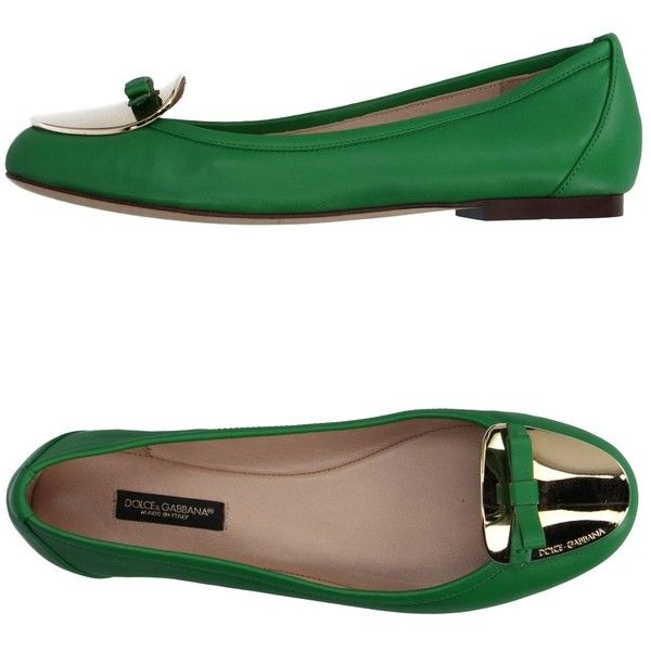 Dolce & Gabbana Ballet Flats ($275) ❤ liked on Polyvore featuring shoes, flats, green, ballet pumps, ballerina pumps, ballerina shoes, ballerina flat shoes and green shoes