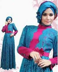Model Baju Gamis Muslim Paling Trend