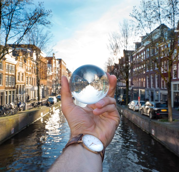 Amsterdam, The Capital of the Netherlands in a new persepective. So amazing! #lensball #crystalball #photography BUY HERE: https://lensball.com/