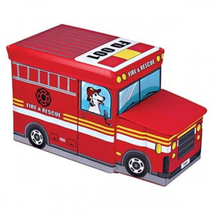 Sit n Store Transport - Fire Engine  Remember when you were little and playing with toys was the best, but putting them away at the end of the day was the worst? Well, when your child's toy box is as bright and colourful as the toys that go in it, it shouldn't be a problem. The Sit 'n Store Kids Storage Box is an attractive way to store toys, books or even shoes! Holds up to 100kg's.