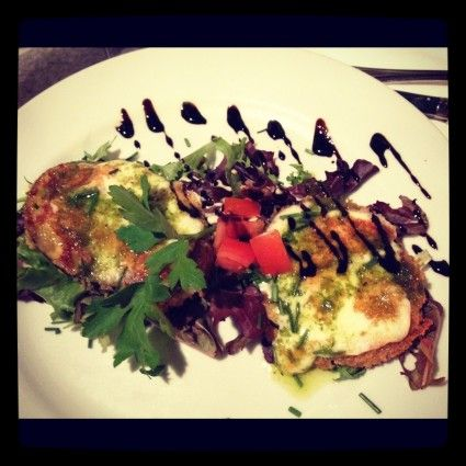 eggplant and cheese fried paris french food