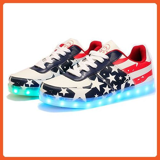 Mini Fashion Leisure Sports Shoes USB Charging 7 Colors LED Shoes Light Up Flashing Fashion Sneakers For Mens & Womens - Sneakers for women (*Amazon Partner-Link)