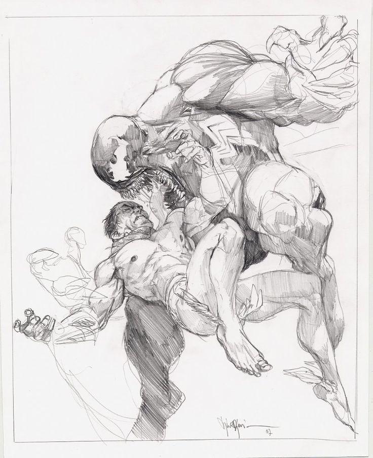 Namor Vs Venom by Marko Djurdjevic