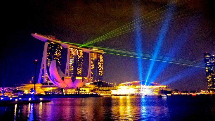 Apen matkat: Singapore, osa 3, Marina Bayn valofestivaalit ja valoshow