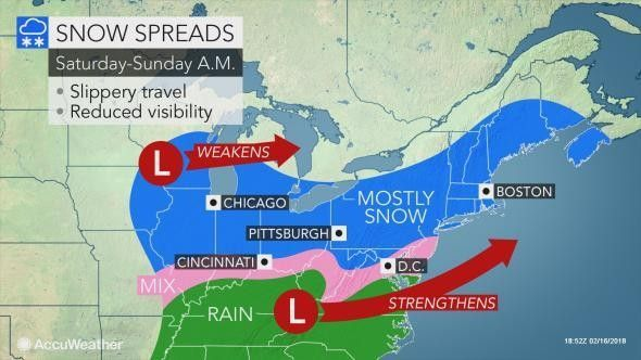 NJ weather update: When will the snowstorm start Saturday how much snow will fall