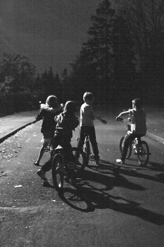 """""""I've got to go, it's getting dark."""" - I remember I had to go home when the street lights came on."""