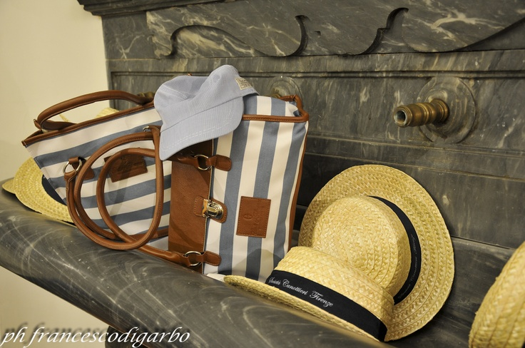 Conte of Florence 2013 Spring Summer Collection - Photo by Francesco Di Garbo #hat #straw #summer #conteofflorence #bag #stripes