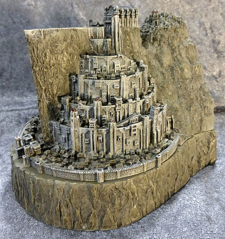 Lord of the rings return of the king minas tirith jewelry box bookend - Lord of the rings bookends ...