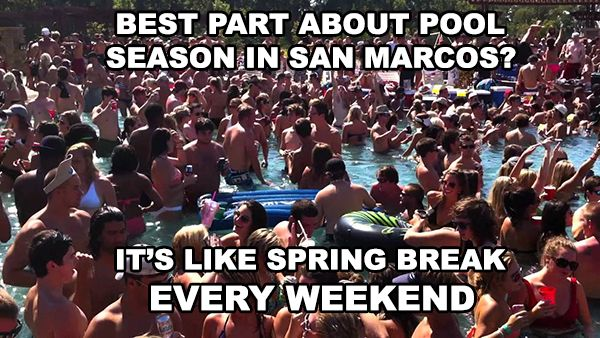 Texas State University Apartments And Student Housing Top 10 Pool Party Destinations In San