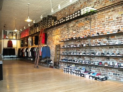 Subsect Skate Shop Shoe wall