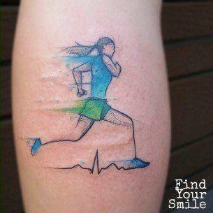 running girl tattoo