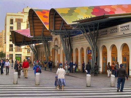 Santa Caterina Market By Enric Miralles And Benedetta Tagliabue - Barcelona, Catalonia.