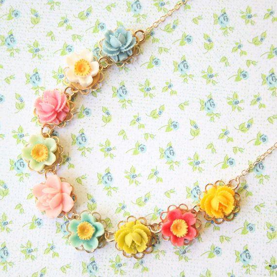 Collana di fiori di ragazze ragazza di di NestPrettyThingsKids