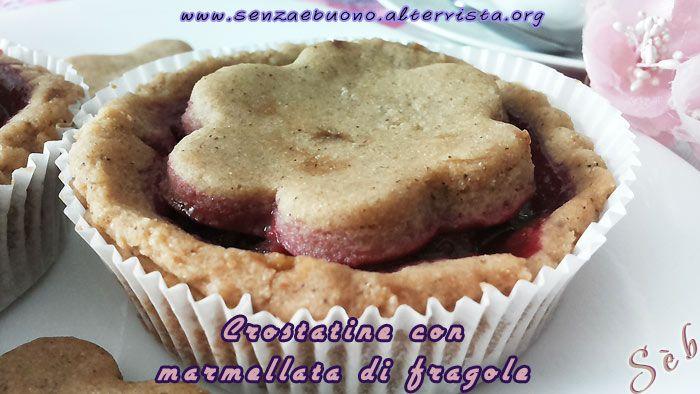 Costatine con frolla #senzaglutine e #veg con marmellata di fragole #senzazucchero