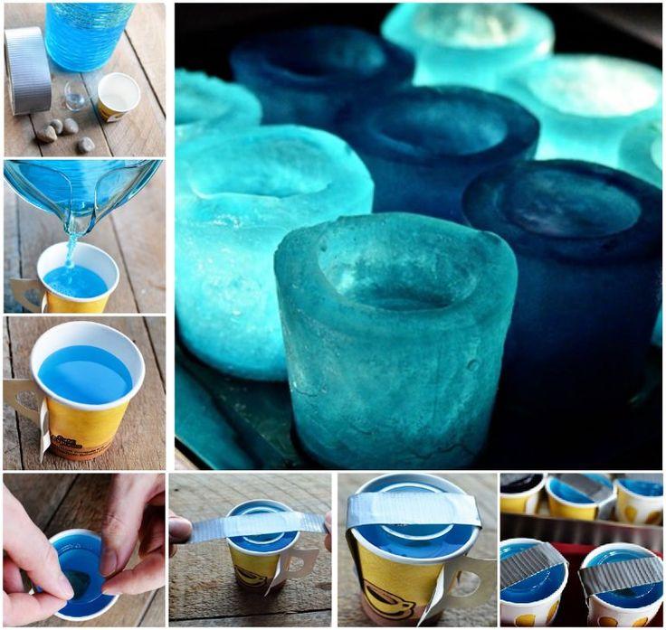 DIY Ice Shot Glasses