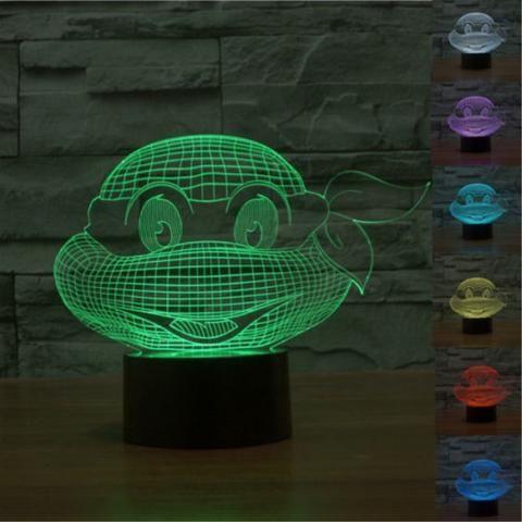 TMNT 3D LED USB Lamp