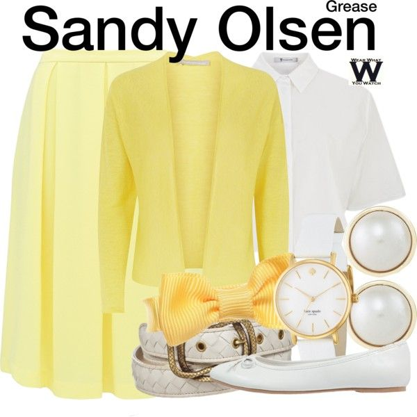 Inspired by Olivia Newton John as Sandy Olsen in 1978's Grease.