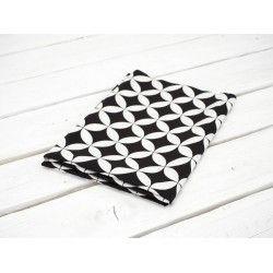 ŁUSKI / czarno-białe - tkanina odzieżowa TO110