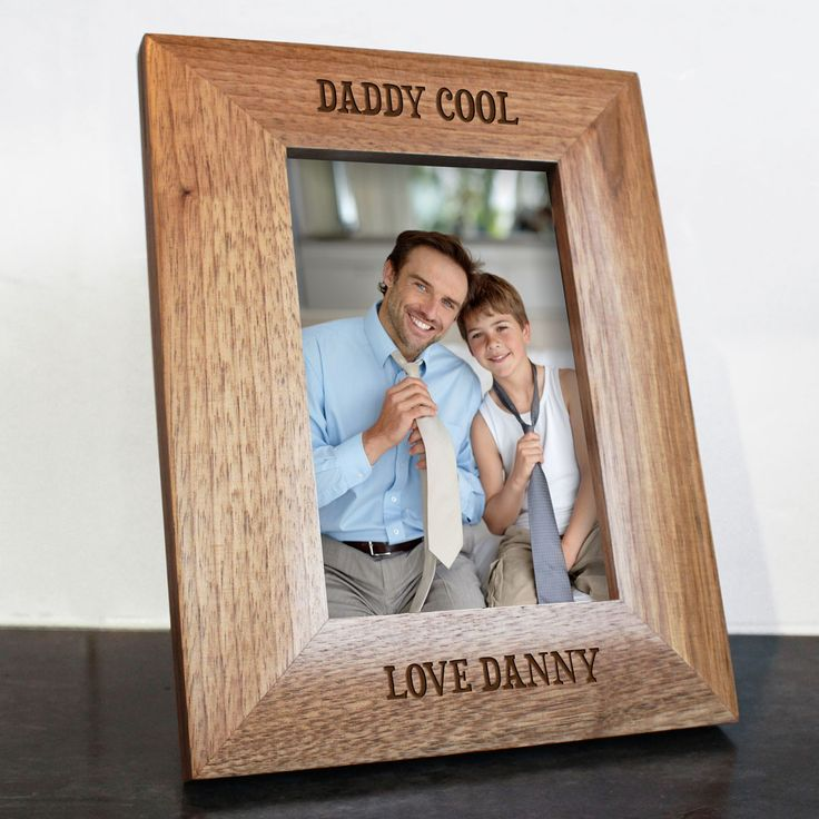 Personalised Daddy Cool Engraved Photo Frame - yourgifthouse