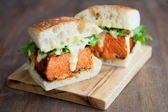 blackened salmon sandwich recipe   use real butter