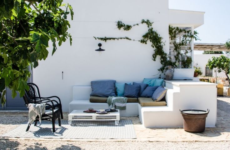 """This mediterranean outside area is from our feature """"Apulian Dream"""""""