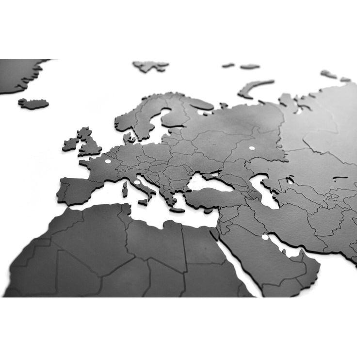 Wanddekoration und Puzzle in einem: Diese Weltkarte ist ein außergewöhnliches Puzzle, das Hobby und Inneneinrichtung miteinander verbindet. Das Puzzle besteht aus Holz und ist in sechs Kontinente aufgeteilt. Sobald die Kontinente fertig gepuzzelt sind, können sie mithilfe des mitgelieferten Stickers an der Wand aufgeklebt und als ungewöhnliche Wanddekoration verwendet werden. Eine schöne Einrichtungsidee zum Einzug!