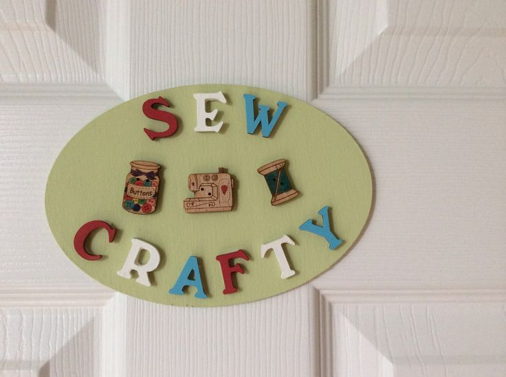 Sew Crafty Sign