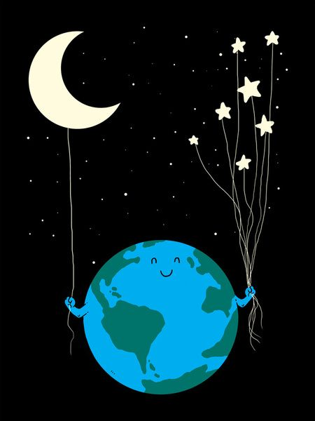 Under the moon and stars Art Print by Carbine | Society6