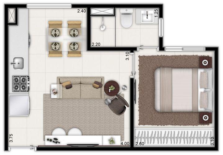 apartamento de 1 dormitório 30m² - Sampa Alameda Brás