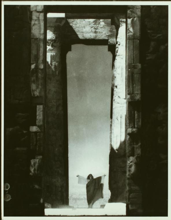 Isadora Duncan at the Parthenon. Date Issued: 1920 (Approximate). Steichen, Edward (1879-1973) (Photographer) From New York Public Library Digital Collections.