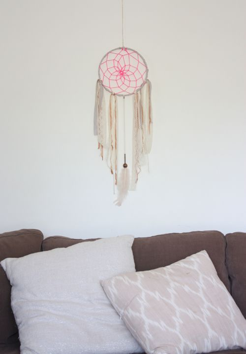 neon and neutral dreamcatcher