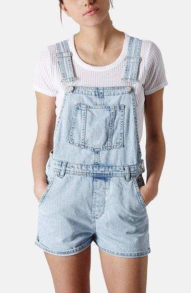 Topshop Moto Short Overalls (Petite) available at #Nordstrom
