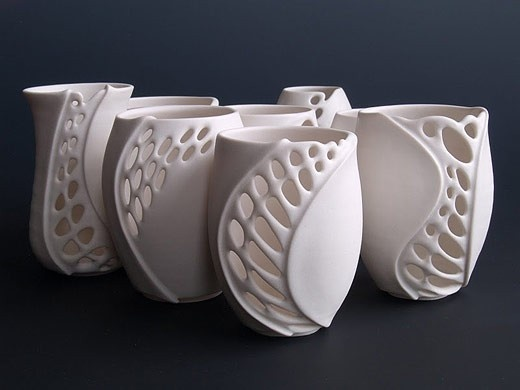 clare wakefield  porcelain: Clay, Ceramics Candles Holders, Candle Holders, Teas Lights, Clare Wakefield, Ceramics Bowlscupssugar, Wakefield Porcelain, Tea Lights, Artists Image
