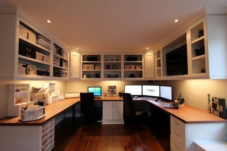 Office Desks, Double Desk Home Office With Drawers
