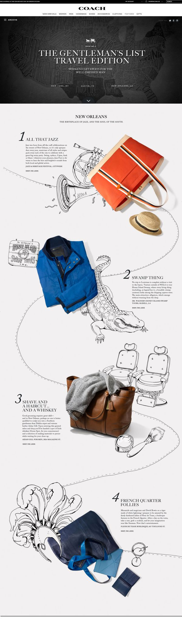 Coach Gentlemen's List by Kathrin Laser, via Behance