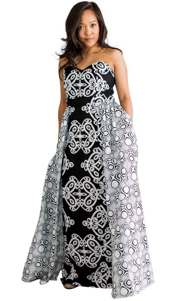 The perfect gown for a wedding or formal event. Featuring the YinYang gown