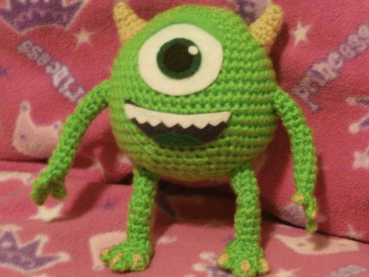 Monsters Inc, Mike Wazowski amigurumi crochet.
