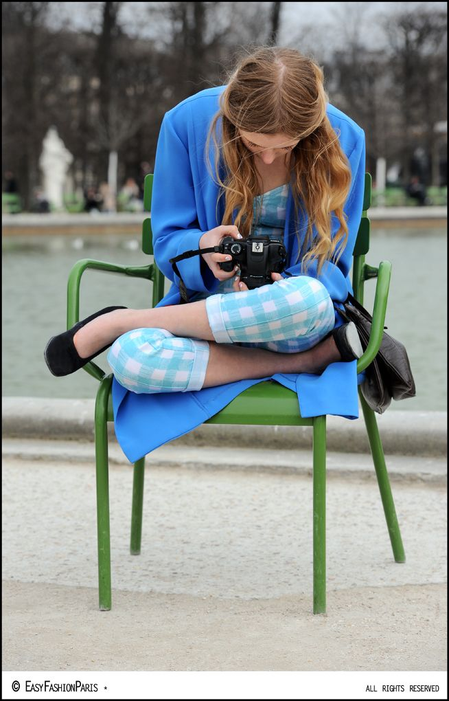 Miss Marie I do believe looking tres chic & deep in concentration in Paris. #MarieJensen #NemesisBabe #PFW